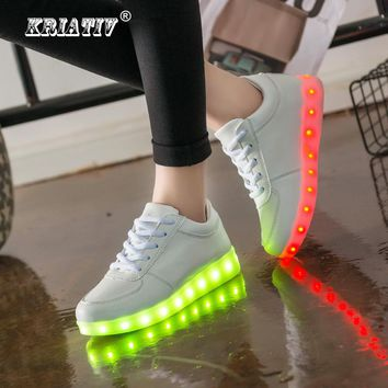 KRIATIV USB Charger children Led shoes infant Kid Light Up shoes Casual Boy&Girl Luminous Sneakers illuminated Glowing sneakers