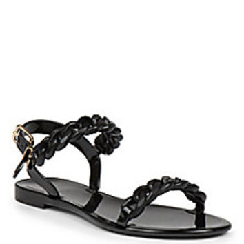 Givenchy - Nea Jelly Flat Sandals - Saks Fifth Avenue Mobile