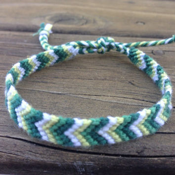 Green Chevron Friendship bracelet