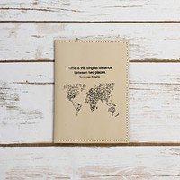 Tennessee Williams, Time And Distance Passport Cover Wallet