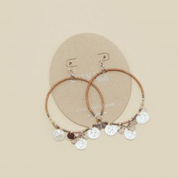 MIX COIN HOOP EARRINGS