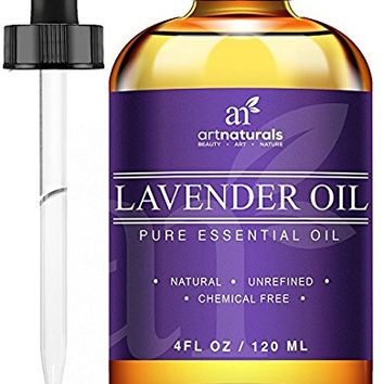 ArtNaturals Lavender Oil Set with 10 mL Lavender Oil Bottle and 10 mL Signature Zen Bottle, 4 fl. oz., 3 Piece
