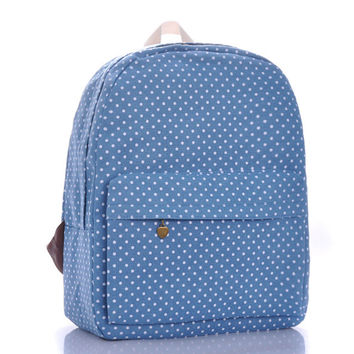 Korean Canvas Blue Bags = 4887529092