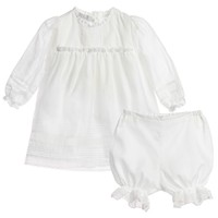 Ivory Cotton & Lace Dress with Bloomers