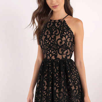 Delilah Strappy Back Lace Dress