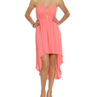 Crochet Sweetheart High-Low Dress   Shop Just Arrived at Wet Seal