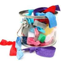 25 Hair Ties in a Paint Can - Birthday Gift Tin By Preppy Pieces Hair Ties