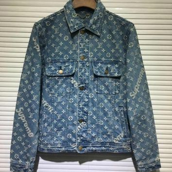 LOUIS VUITTON SUPREME MEN DENIM JACKET