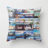 travel. Throw Pillow by Pink Berry Patterns