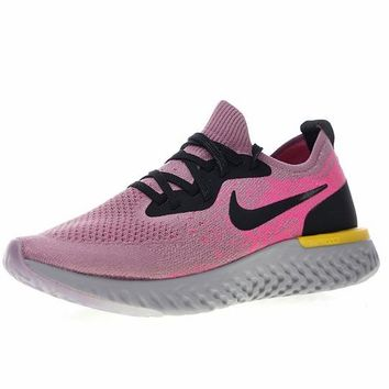 "18SS! Nike Epic React Flyknit ""Purple Pink"" Running Shoes Sneaker AQ0070-500"