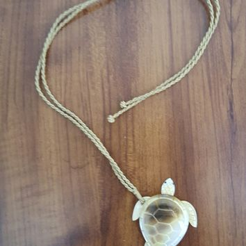 Mother of Pearl Honu Pendant Necklace