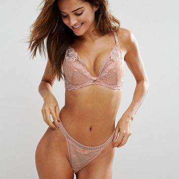 Gossard High Apex Lace Plunge Bra at asos.com