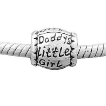 European Charm Metal Bead Daddy's Little Girl