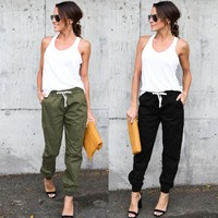 Women High Waist Cargo Pants