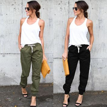 Women's High Waist Sports Cargo Pants