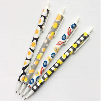 B17 4X Fresh Simple Fruit Egg Press Automatic Mechanical Pencil Writing Drawing School Office Supply Student Stationery 0.5mm