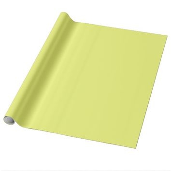 Citrus Yellow Wrapping Paper
