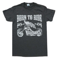 Born to ride Vintage Biker Motorcycle T-shirt