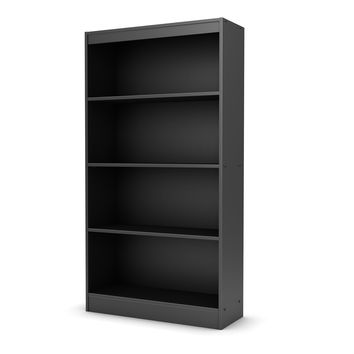 Four Shelf Eco-Friendly Bookcase In Black Finish