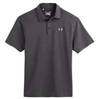 Under Armour Elevated Heather Stripe Polo for Men in Black 1242758-001