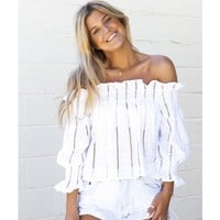 Anything Goes Off the Shoulder Top - Top - Shop