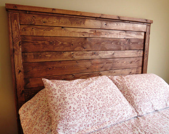 queen rustic distressed wood headboard from. Black Bedroom Furniture Sets. Home Design Ideas