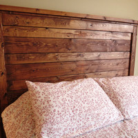 Queen Rustic Distressed Wood Headboard - Made to Order, Custom Built, Reclaimed Look