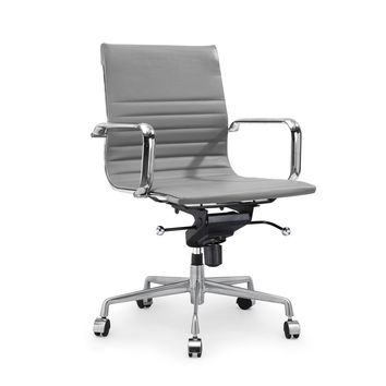 Decade Grey Modern Classic Aluminum Office Chair (Set of 2)