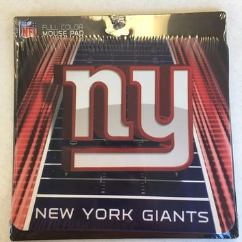 NEW YORK GIANTS LOGO MOUSE PAD HOLIDAY GIFT SHIPPING