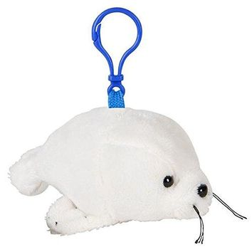 Wildlife Tree Harp Seal Plush 3.5 Inch Stuffed Animal Backpack Clip Toy Keychain Wildlife Hanger Party Favor Pack of 12