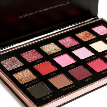 18 Colors Eye Shadow Palette Nudes Shimmer Earth Color Professional Makeup Eyeshadow Palette Eyes Beauty Make Up Set I528