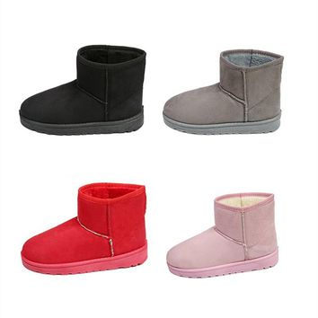 Shuangxi.jsd 2018 Winter Women Ankle Boots Fashion Snow Boots Plus Size High Quality Flat Booties Keep Warm Woman Cotton Shoes