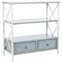 Saffron Pale Blue Storage Console Table | Overstock.com