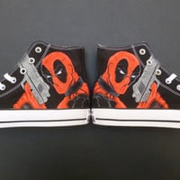 Deadpool Custom Converse Handpainted Shoes All Star Marvel Superheroes Comics
