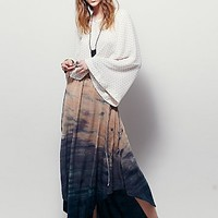 Free People Womens High Tide Washed Maxi