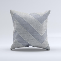 Vintage Gray Textured Chevron Pattern Wide V3  Ink-Fuzed Decorative Throw Pillow