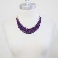 royal decadence beaded necklace at ShopRuche.com
