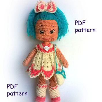 Pattern Natasha  PDF Amigurumi crochet pattern knitted Doll Аmigurumi doll pattern Knitting pattern  Crochet Doll
