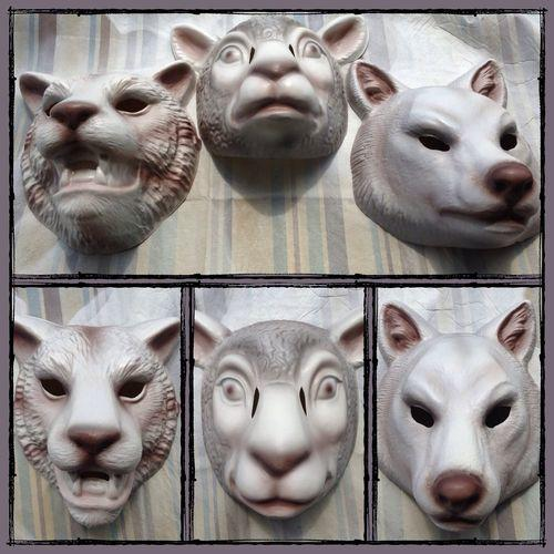 Set Of 3 You Re Next Masks Fox Tiger Lamb From Kreationx On