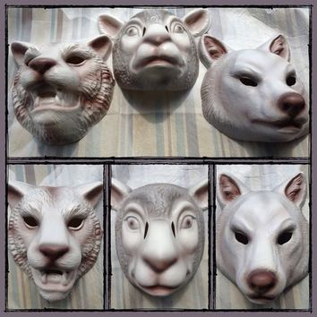 Set Of 3 You're Next Masks Fox Tiger Lamb Halloween Horror Movie Not Myers