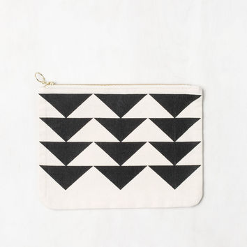 Geo Canvas Pouch