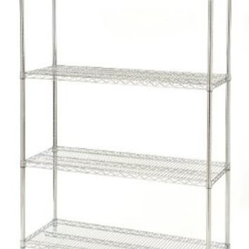 Seville Classics 4 Shelf, 18-Inch by 48-Inch by 72-Inch Shelving System, NSF