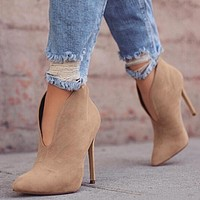 OPEN FRONT ANKLE BOOTIE