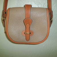 DOONEY and BOURKE Small Equestrian Crossbody Bag Taupe/Brown