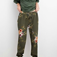 Faded Floral Jogger