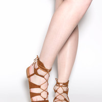 Social Butterfly Faux Suede Sandals