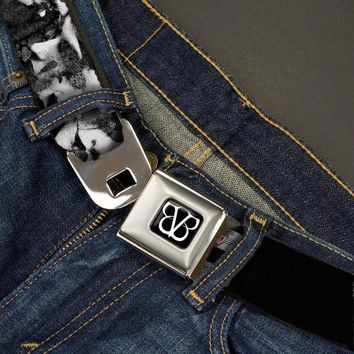 Black Veil Brides Men's  Faces Close-Up Seatbelt Buckle Belt