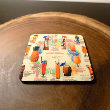 Awesome Tiki Bar Drink Coaster. These are so cool with all the old Tiki Drinks.