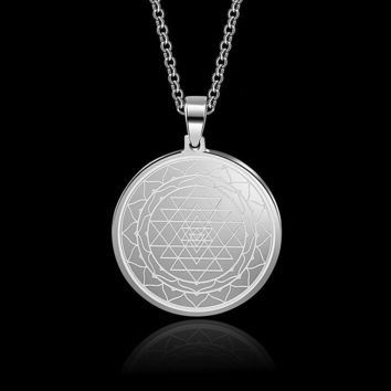 Sri Yantra Stainless Steel Amulet
