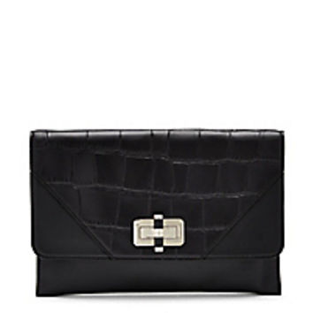 DVF 440 Gallery Folio Croc Crossbody Bag